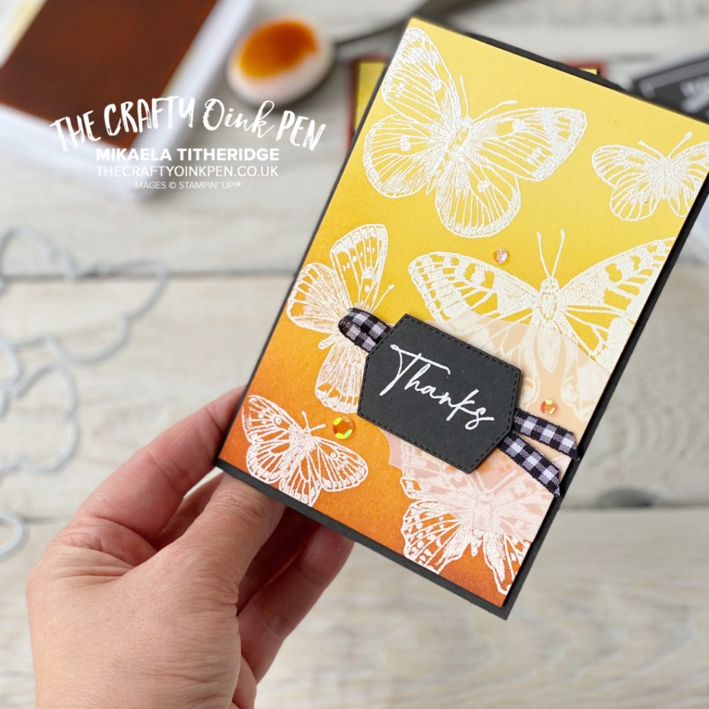 Handmade Card using Butterfly Brilliance by The Crafty oINK Pen