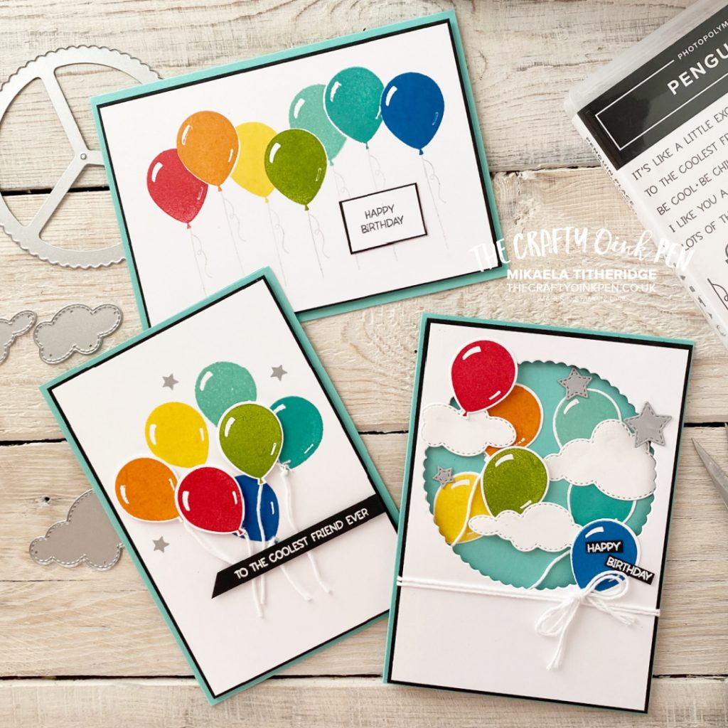 Celebrate with Rainbow Balloons from the Penguin Place Stamp Set