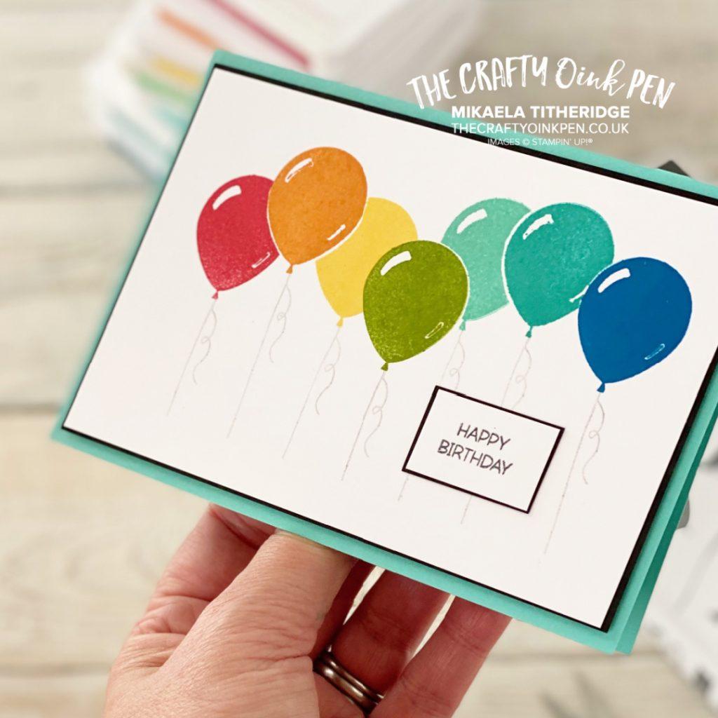 Penguin Place Rainbow Balloon Card set