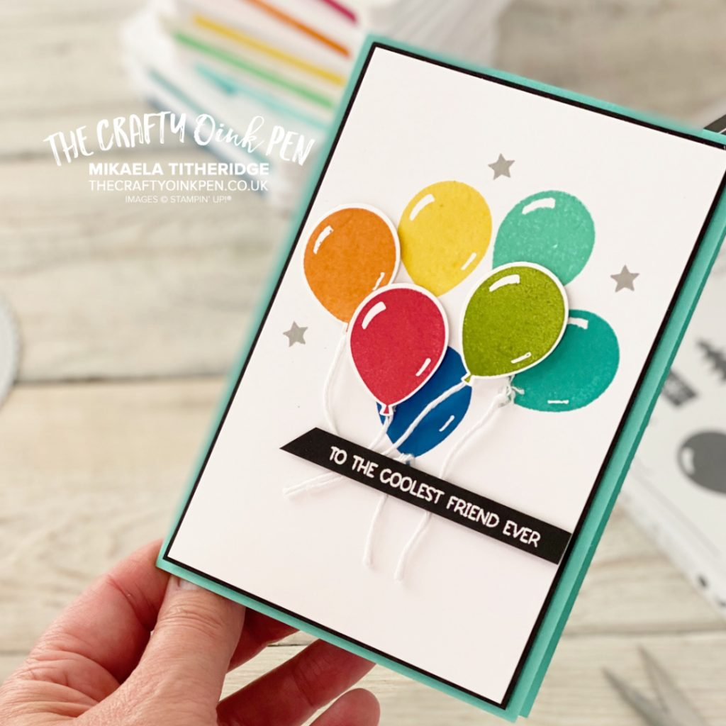 Balloon Cluster Card by The Crafty oINK Pen