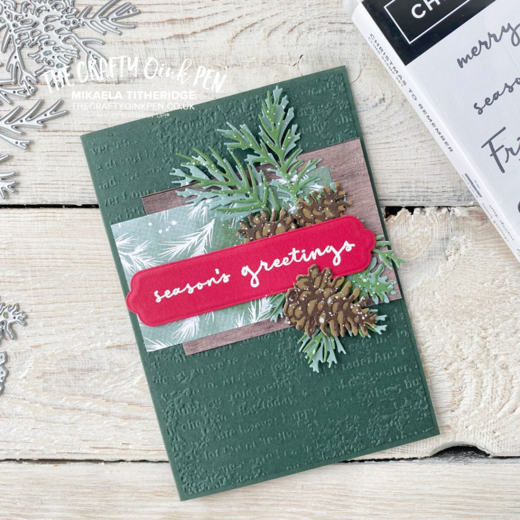 Christmas to Remember, Pinecones and Christmas Tidings from The Crafty oINK Pen