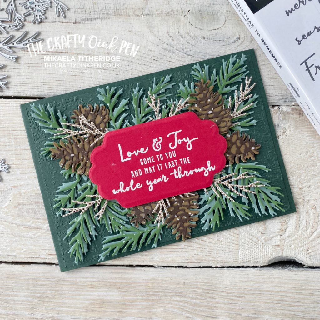 Christmas to Remember and Christmas Pinecones card by Mikaela Titheridge