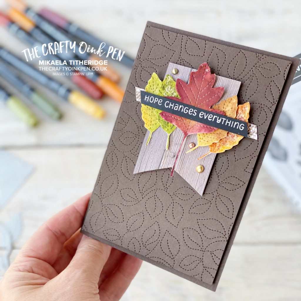 Love of Leaves and Changing Seasons for a card of hope