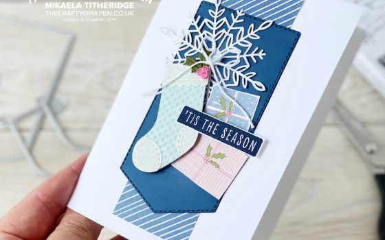 Stocking, Snowflake Whimsy and Wonder Card
