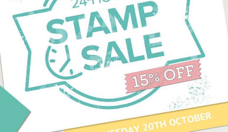 24 Hour Stamp Sale starts tonight
