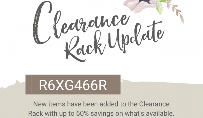 Clearance Rack Update and a New Tag Kit
