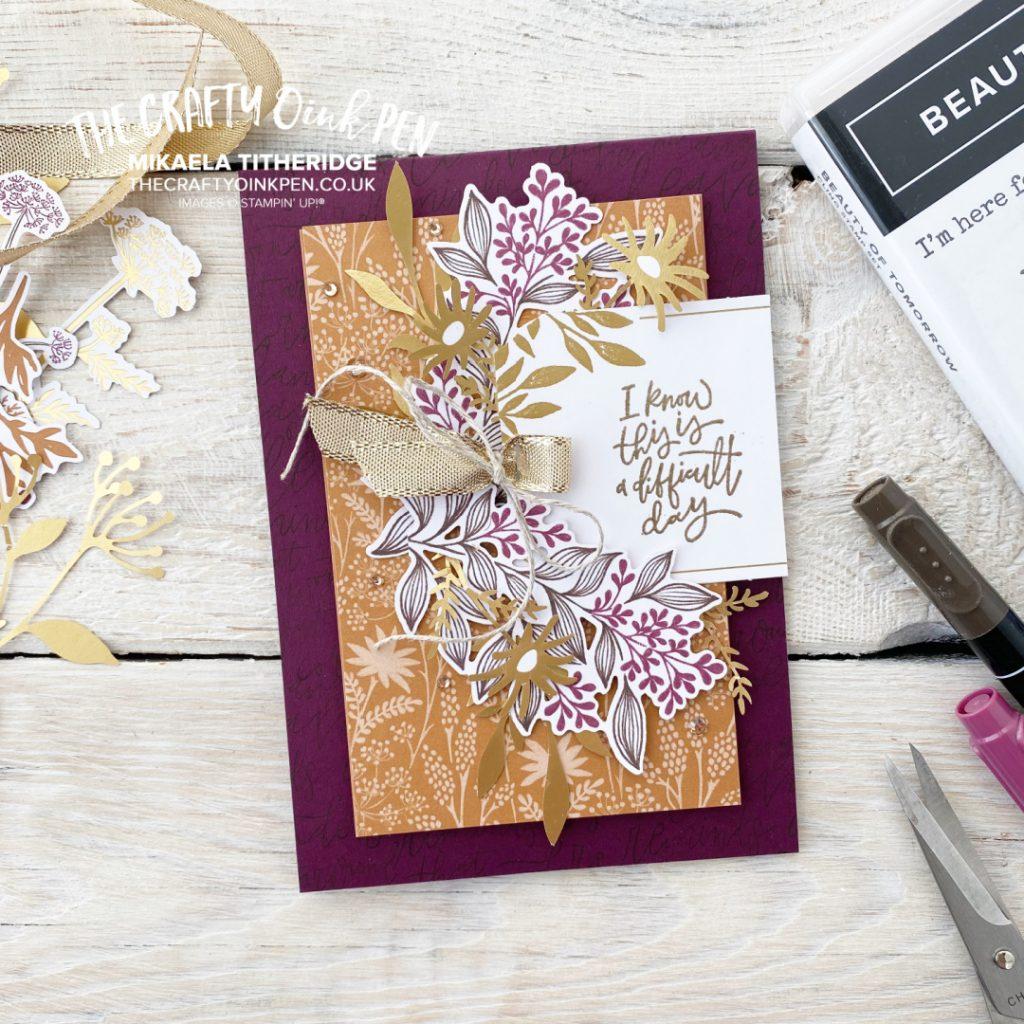 Blackberry Beauty Ephemera Card by The Crafty oINK Pen for All Star Tutorial Blog Hop