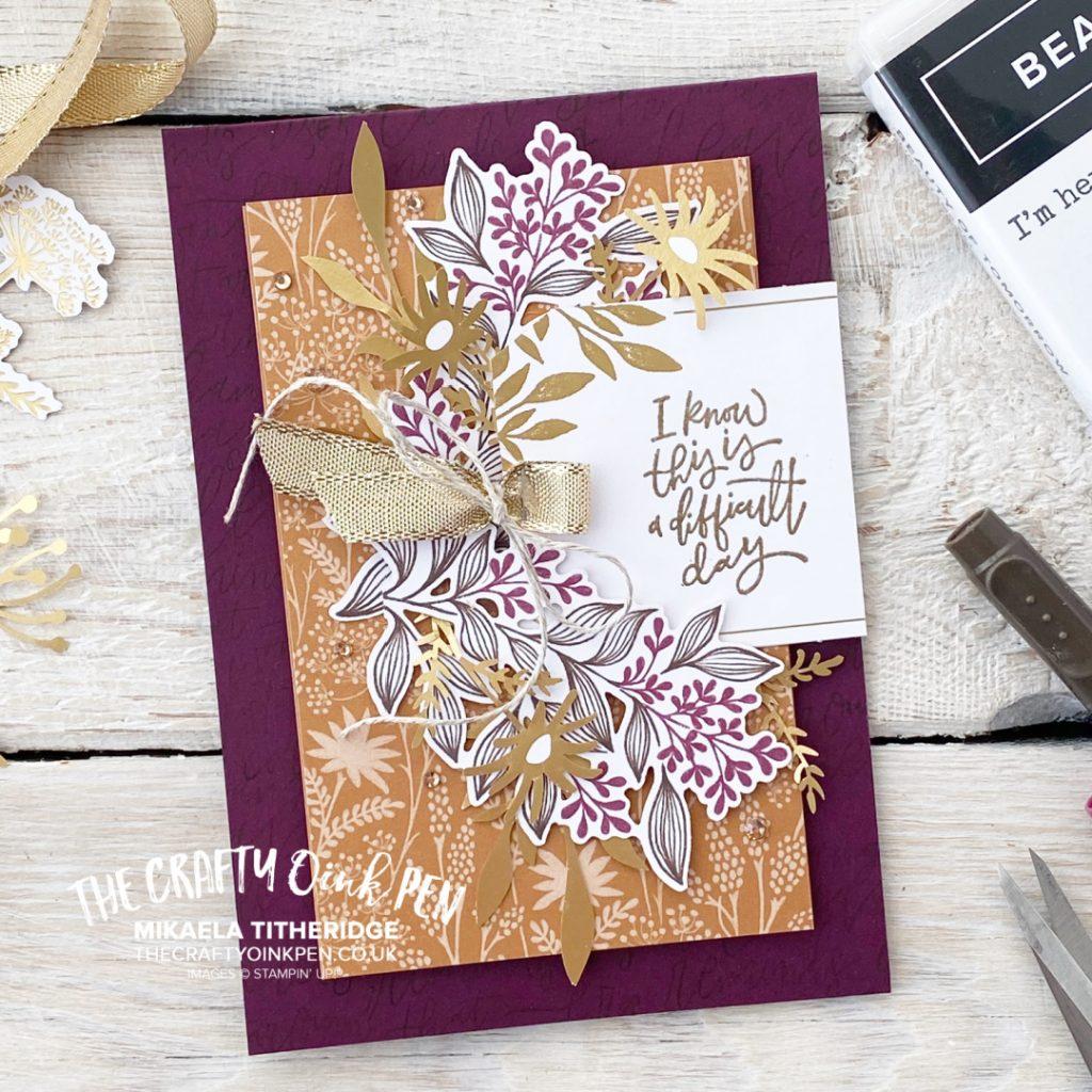 Blackberry Beauty Ephemera Card Designed by Mikaela Titheridge