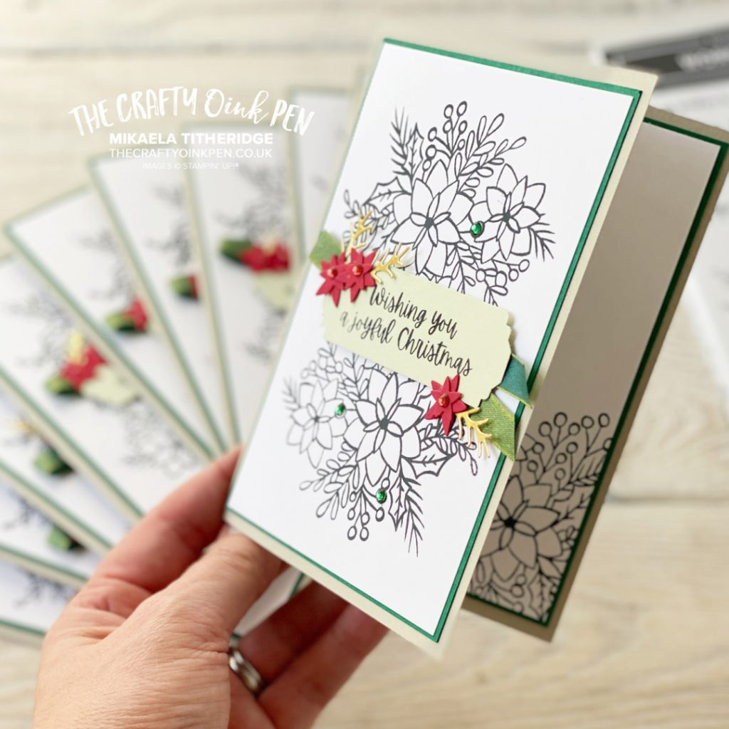 Words of Cheer used to create 10 cards in 30 mins using the Stamparatus