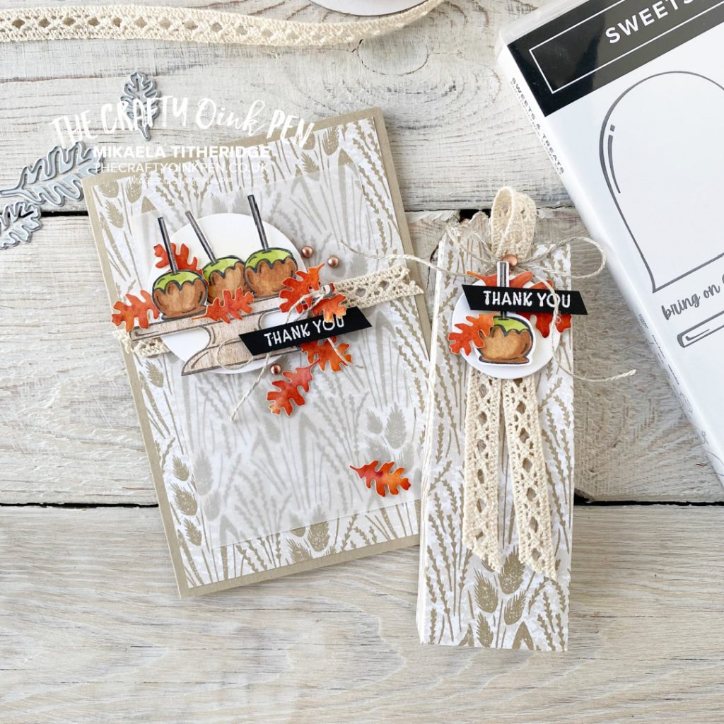 Card and treat holder using Sweets & Treats by Mikaela Titheridge